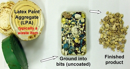 Azuza Soft Rock made from dried paint aggregate
