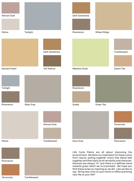 Life Cycle Paint Colors Combinations2