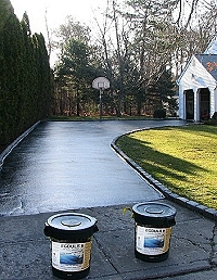 Egdules latex asphalt coating fro driveways and parking lots