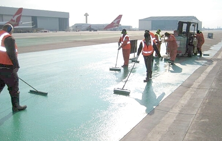 LAX goes green with Egdules asphalt sealer
